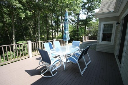 Mashpee/New Seabury New Seabury vacation rental - Outside deck with heavily wooded yard and gas grills