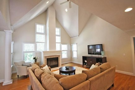 Mashpee/New Seabury New Seabury vacation rental - Open living room with large cathedral ceiling