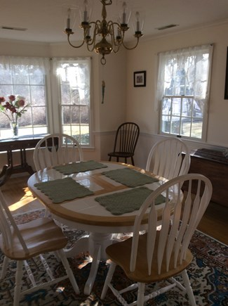 Dennis Cape Cod vacation rental - Dining room with bow window
