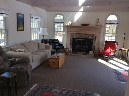 Dennis Cape Cod vacation rental - Family room with access to brick patio