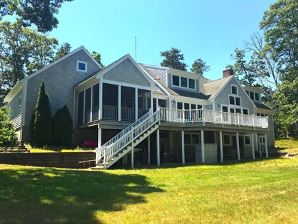 Orleans Cape Cod vacation rental - Huge deck and screened porch for river views.
