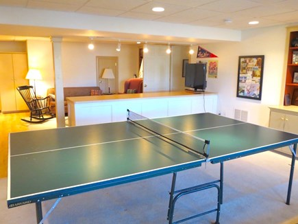 Orleans Cape Cod vacation rental - Ping pong table and TV lounge on lower level
