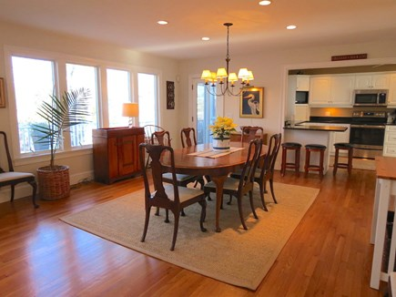 Orleans Cape Cod vacation rental - Big dining area with water view.