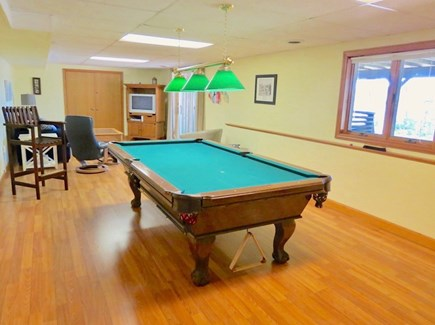 Orleans Cape Cod vacation rental - Finished lower level rec room and TV lounge.