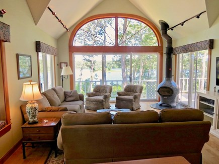 Orleans Cape Cod vacation rental - Window wall makes the most of the water view.