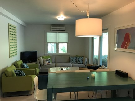Yarmouth Cape Cod vacation rental - Downstairs Living Area with Access to Porch
