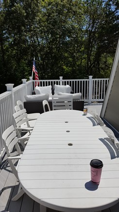 Yarmouth Cape Cod vacation rental - Sitting and Eating Areas on Spacious Upstairs Deck