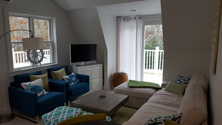 Yarmouth Cape Cod vacation rental - Upstairs Living Area opens to the Deck