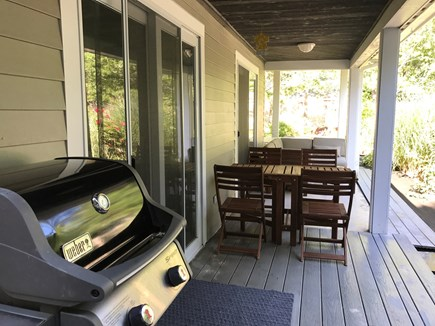 Yarmouth Cape Cod vacation rental - Downstairs Porch with BBQ Grill