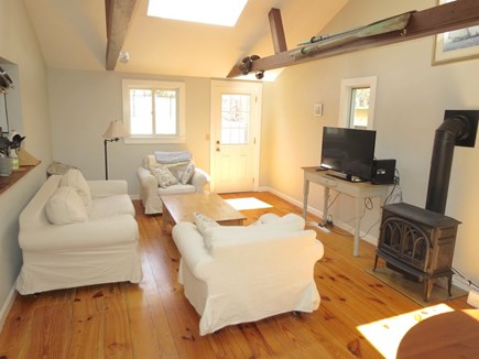Brewster Cape Cod vacation rental - Main cottage living room/ TV lounge.