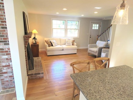 Brewster Cape Cod vacation rental - From kitchen to living room.  WiFi and cable TV, of course