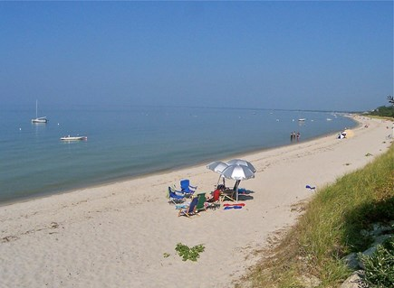 Brewster Cape Cod vacation rental - Idyllic private beach is only a 5-minute walk from the house.
