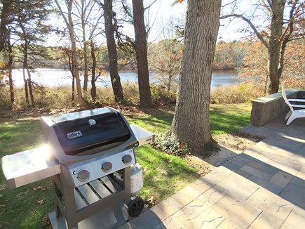 Brewster Cape Cod vacation rental - Grill meister gets a nice water view