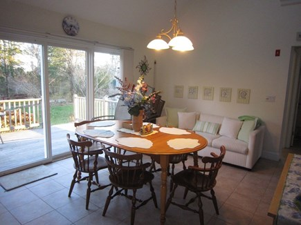 Orleans Cape Cod vacation rental - Dining area- Slider to deck