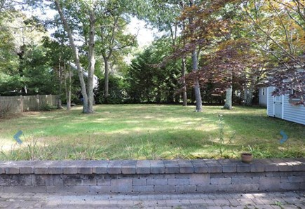 Falmouth Cape Cod vacation rental - Large back yard with garage and shed
