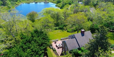Chatham Cape Cod vacation rental - Home is at end of a quiet cut de sac with a view of Black Pond.