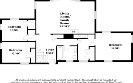 Chatham Cape Cod vacation rental - Upstairs layout.