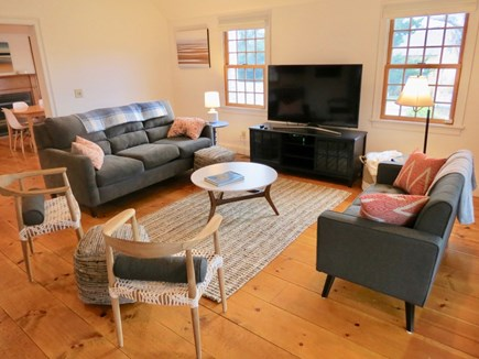 Brewster Cape Cod vacation rental - Living room/TV lounge adjoins dining area