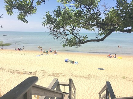Brewster Cape Cod vacation rental - The beach is adjacent to Brewster's public Breakwater Beach
