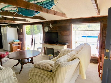 Chatham Cape Cod vacation rental - Pool house TV lounge