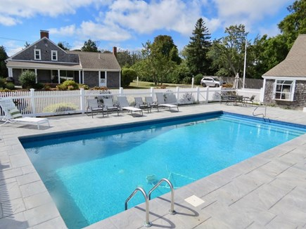 Chatham Cape Cod vacation rental - Big pool, two houses. Hot tub will go here.