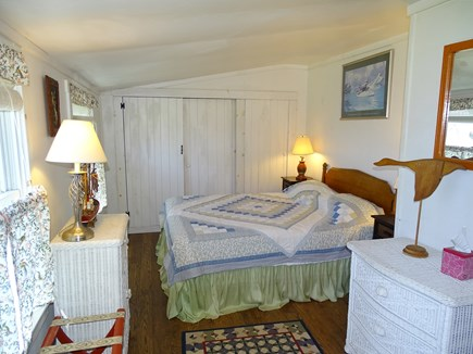 Wellfleet Cape Cod vacation rental - Queen bedroom with water views, door to bathroom