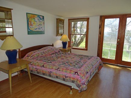 Wellfleet Cape Cod vacation rental - Queen bedroom with slider to patio, water views