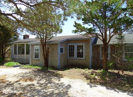 Wellfleet Cape Cod vacation rental - View of house from driveway – rustic Cape Cod beach house