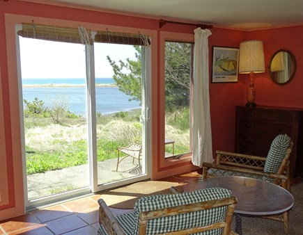 Wellfleet Cape Cod vacation rental - Lovely view from master bedroom, slider to private patio
