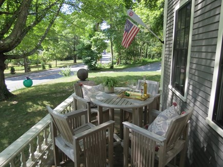 Orleans Cape Cod vacation rental - Comfy front deck overlooks picturesque Main Street, Orleans