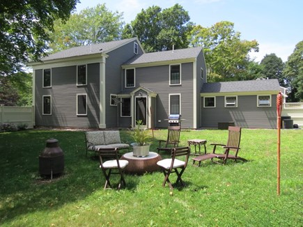 Orleans Cape Cod vacation rental - Relax in the HUGE back yard that is completely enclosed