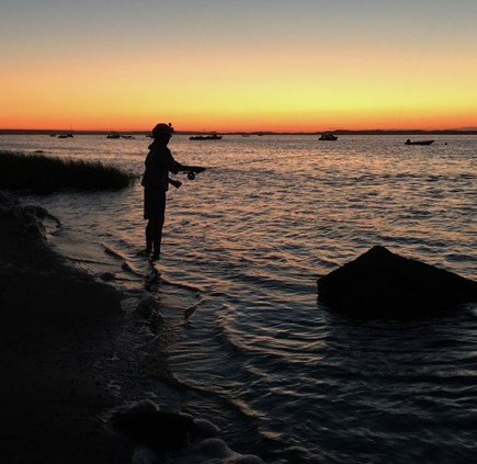 Barnstable Cape Cod vacation rental - Fishing at End of Bay View