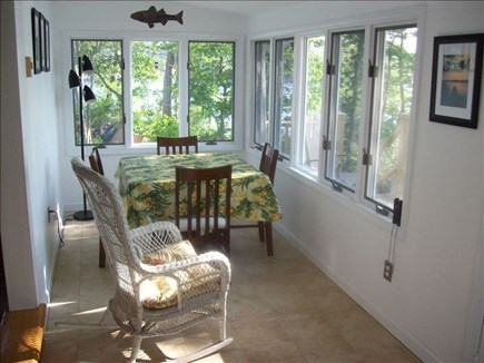 Plymouth, Cedarville MA vacation rental - Sun porch with table and chairs