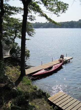 Plymouth, Cedarville MA vacation rental - Dock with kayak behind the house