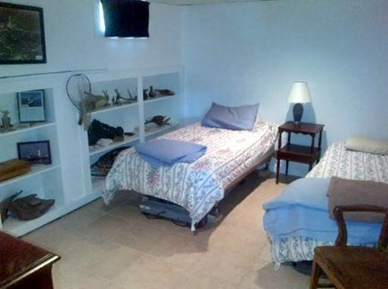 Plymouth, Cedarville MA vacation rental - Lower level bedroom with twin beds