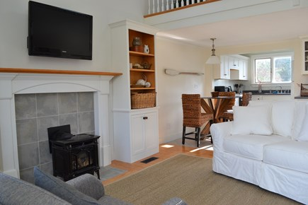 Sandwich Cape Cod vacation rental - Open floor plan Living Room/Kitchen with all amenities.