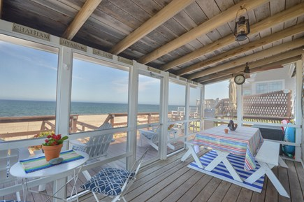 East Sandwich Cape Cod vacation rental - Ahhh....screened in porch overlooking the ocean.