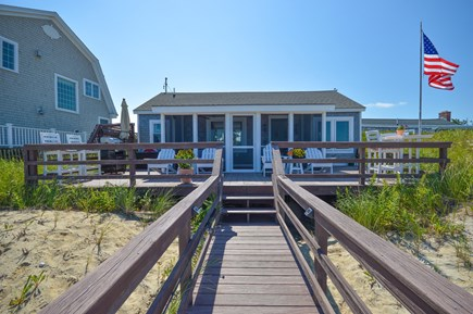 East Sandwich Cape Cod vacation rental - BBQ, cup of coffee, a cold beer, and Cape Cod Bay!
