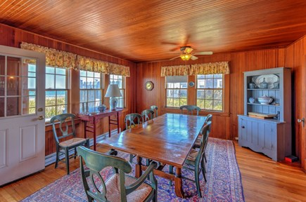 East Sandwich Cape Cod vacation rental - Dining room with ocean views