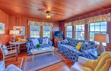 East Sandwich Cape Cod vacation rental - Living Room with ocean views
