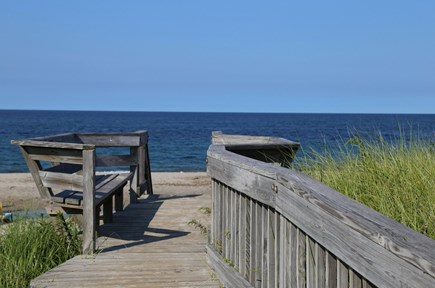 East Sandwich Cape Cod vacation rental - Boardwalk to Association Beach