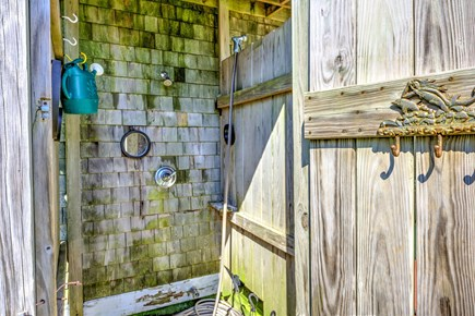Sandwich, Town Neck Cape Cod vacation rental - Enclosed outdoor shower