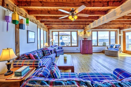 Sandwich, Town Neck Cape Cod vacation rental - Living room with views