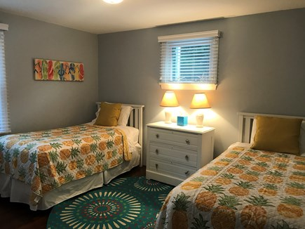 Mashpee, Popponesset Cape Cod vacation rental - Main floor 2nd bedroom with two dressers, two twins