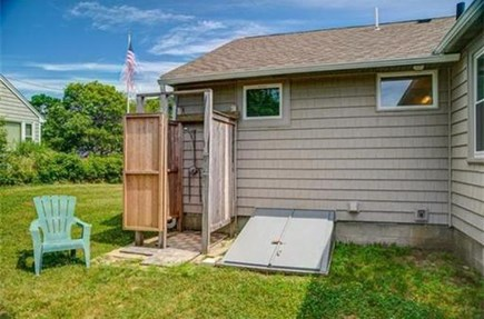 Mashpee, Popponesset Cape Cod vacation rental - Outdoor shower for rinsing off after sunny days at the beach