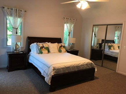 Barnstable, Centerville Cape Cod vacation rental - Master bedroom with bath & sliders to deck
