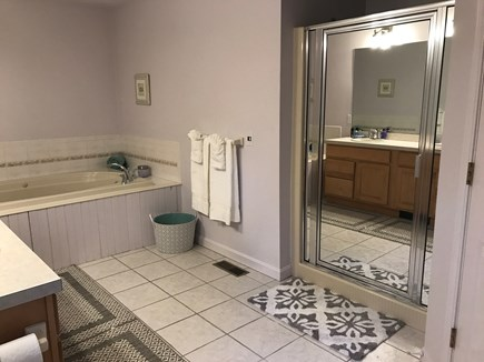 Barnstable, Centerville Cape Cod vacation rental - Master bath with jacuzzi and shower