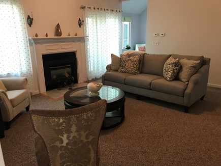 Barnstable, Centerville Cape Cod vacation rental - Living room with fireplace