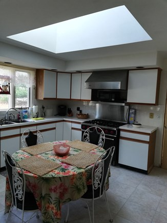 Dennis Cape Cod vacation rental - Kitchen with skylight and viking gas stove