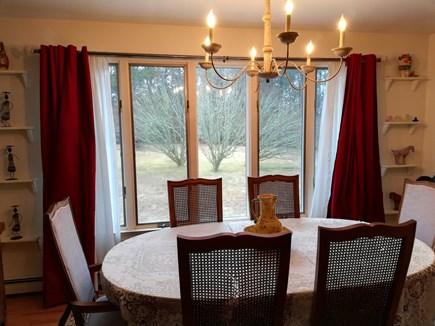 Dennis Cape Cod vacation rental - Dining room with huge window looking toward backyard